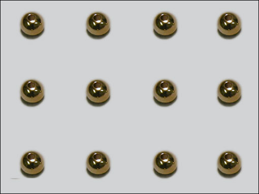 Beadhead 6.4 mm (guld)