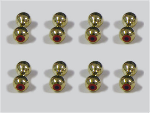 Bug-Eyes 6.4 mm (guld)