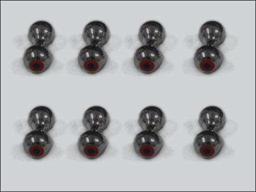Bug-Eyes 6.4 mm (svart)