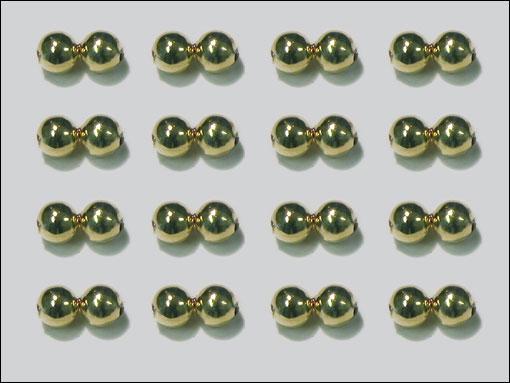 Dog Nobbler Eyes 4 mm (guld)