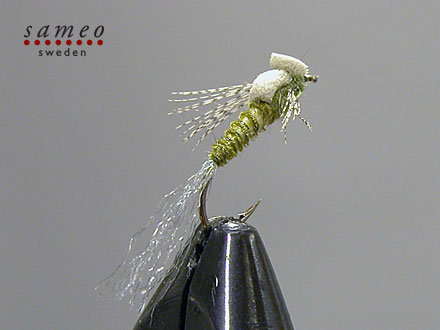 Foam Biot Sparkle Emerger Green Drake
