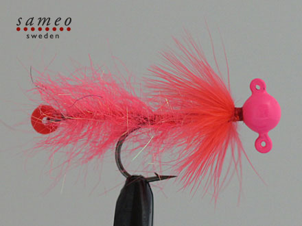 Pearl butt dropper (Flamin pink)