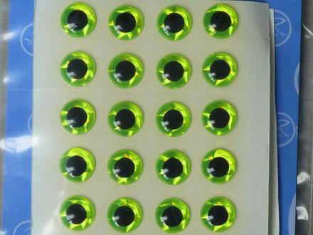 3D Ögon Chartreus