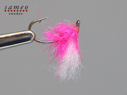 Egg fly fluo purple