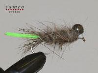 Peeping Caddis light green tail