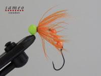 Bobble head (chartreuse/orange)